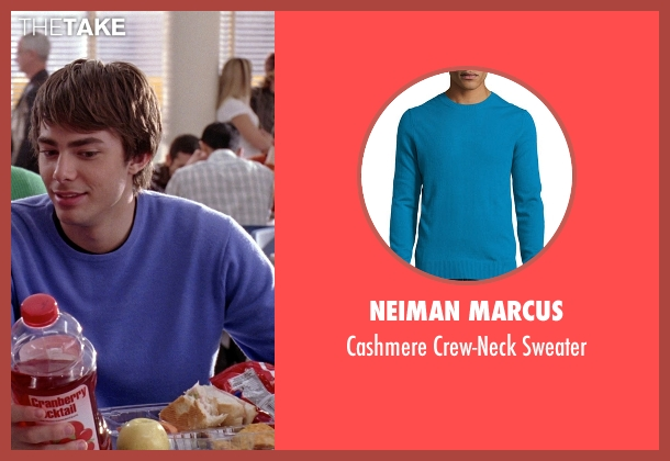 Neiman Marcus blue sweater from Mean Girls seen with Jonathan Bennett (Aaron Samuels)