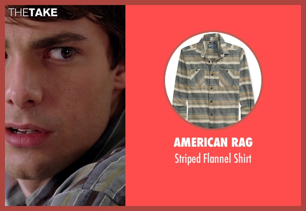 American Rag gray shirt from Mean Girls seen with Jonathan Bennett (Aaron Samuels)