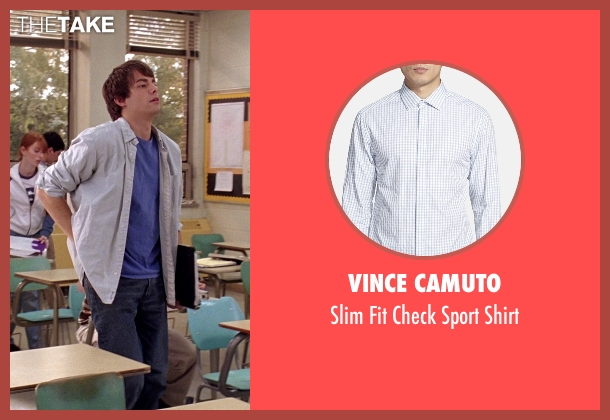 Vince Camuto white shirt from Mean Girls seen with Jonathan Bennett (Aaron Samuels)
