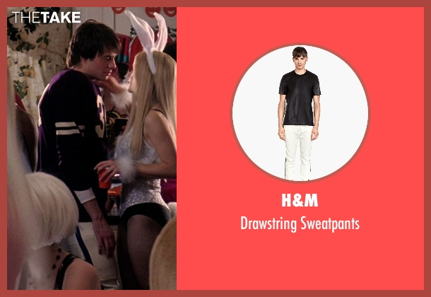 H&M white sweatpants from Mean Girls seen with Jonathan Bennett (Aaron Samuels)