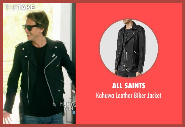All Saints black jacket from Keeping Up With The Kardashians seen with Jonathan Cheban