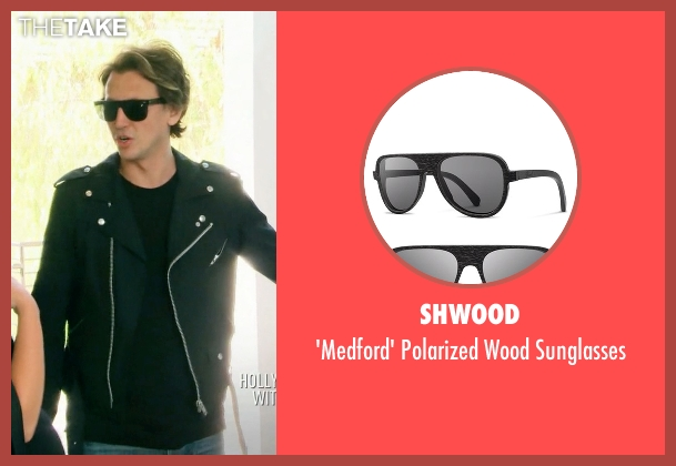 Shwood black sunglasses from Keeping Up With The Kardashians seen with Jonathan Cheban