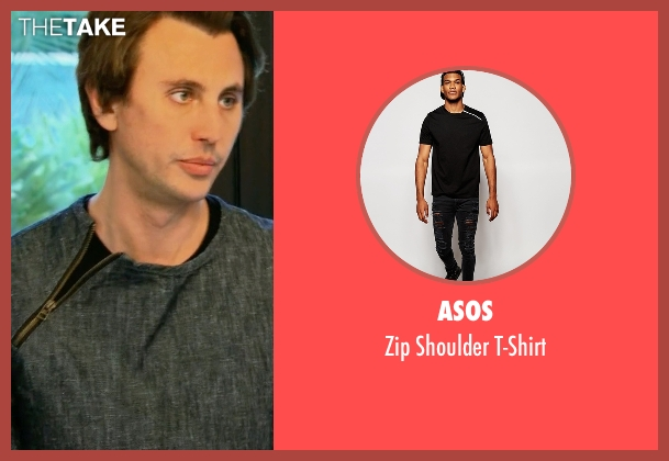 Asos black t-shirt from Keeping Up With The Kardashians seen with Jonathan Cheban
