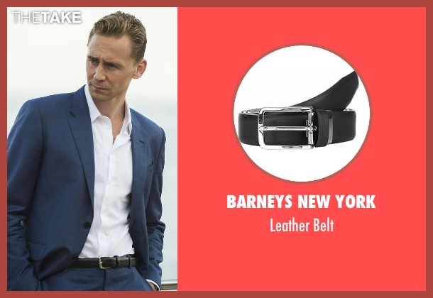 Barneys New York black belt from The Night Manager seen with Jonathan Pine (Tom Hiddleston)