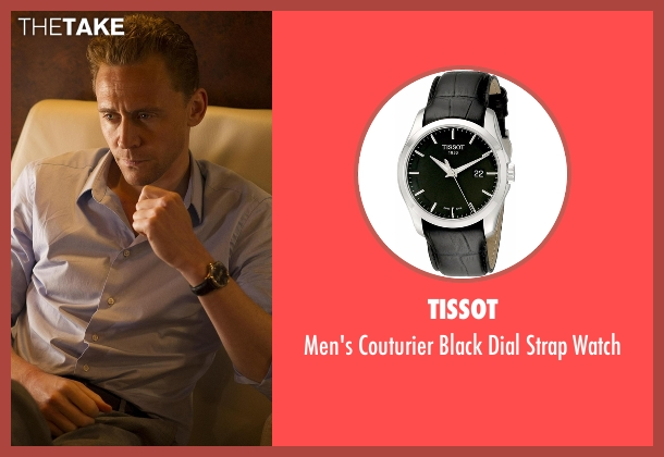 Tissot black watch from The Night Manager seen with Jonathan Pine (Tom Hiddleston)