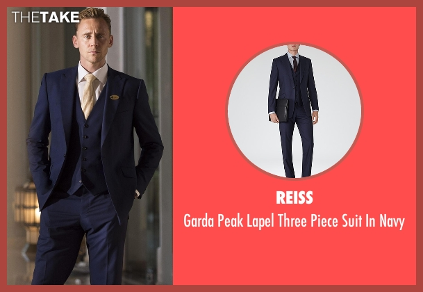 Reiss blue navy from The Night Manager seen with Jonathan Pine (Tom Hiddleston)