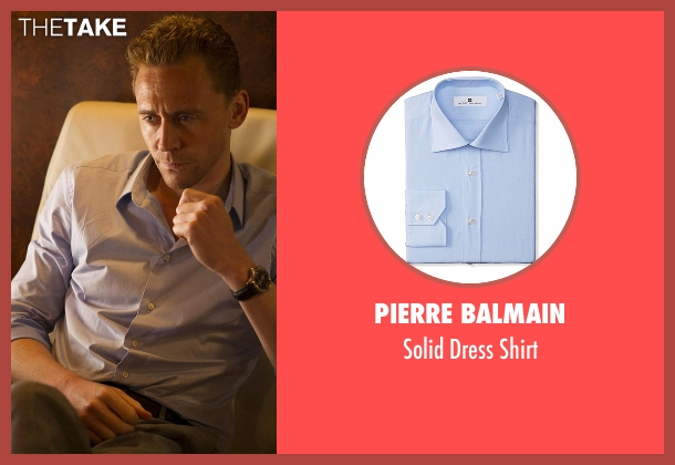 Pierre Balmain blue shirt from The Night Manager seen with Jonathan Pine (Tom Hiddleston)