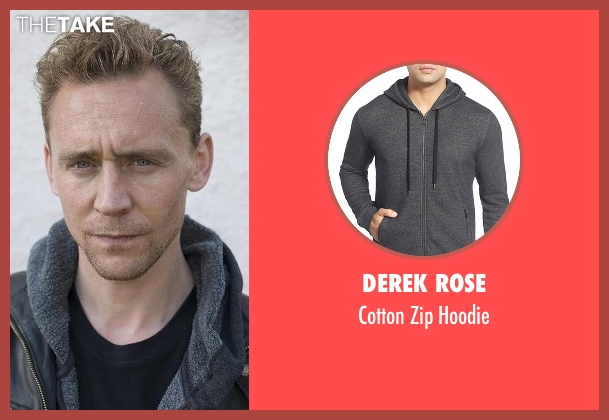 Derek Rose  gray hoodie from The Night Manager seen with Jonathan Pine (Tom Hiddleston)