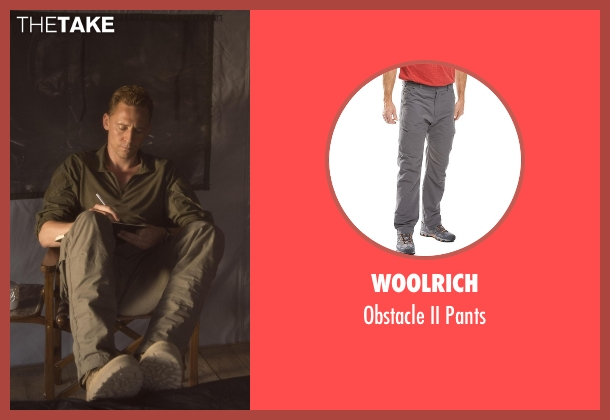 Woolrich  gray pants from The Night Manager seen with Jonathan Pine (Tom Hiddleston)