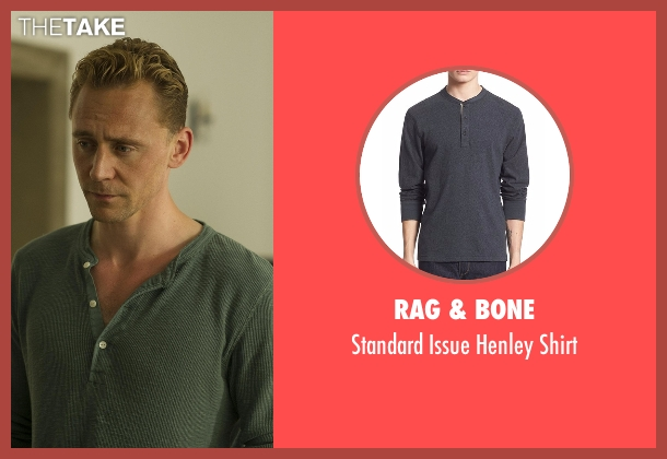 Rag & Bone gray shirt from The Night Manager seen with Jonathan Pine (Tom Hiddleston)
