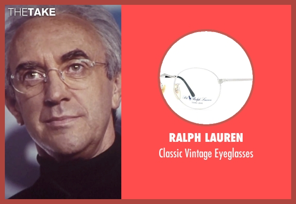 Ralph Lauren black eyeglasses from Tomorrow Never Dies seen with Jonathan Pryce (Elliot Carver)