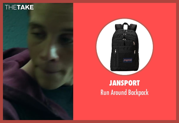JanSport black backpack from Project Almanac seen with Jonny Weston (David Raskin)