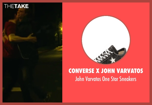 Converse x John Varvatos black sneakers from Project Almanac seen with Jonny Weston (David Raskin)