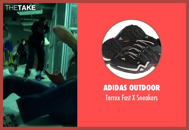 Adidas Outdoor black sneakers from Project Almanac seen with Jonny Weston (David Raskin)