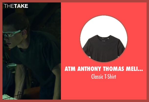 ATM Anthony Thomas Melillo black t-shirt from Project Almanac seen with Jonny Weston (David Raskin)