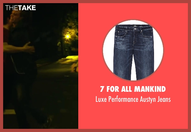 7 For All Mankind blue jeans from Project Almanac seen with Jonny Weston (David Raskin)