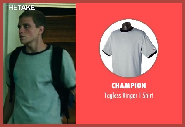 Champion gray t-shirt from Project Almanac seen with Jonny Weston (David Raskin)