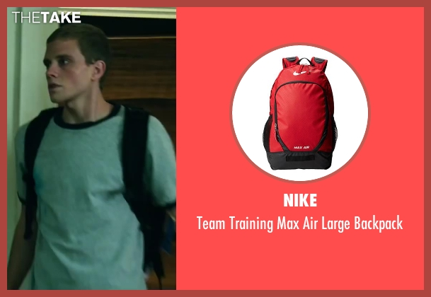 Nike red backpack from Project Almanac seen with Jonny Weston (David Raskin)