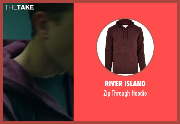 River Island red hoodie from Project Almanac seen with Jonny Weston (David Raskin)