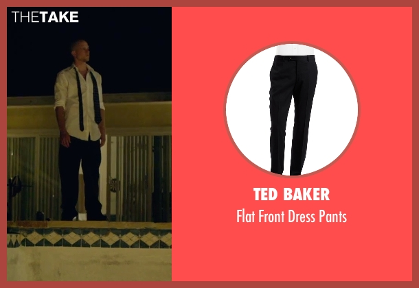 Ted Baker black pants from We Are Your Friends seen with Jonny Weston (Mason)