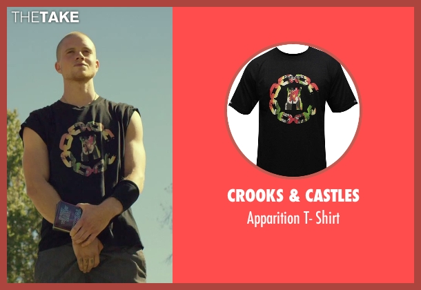 Crooks & Castles black shirt from We Are Your Friends seen with Jonny Weston (Mason)