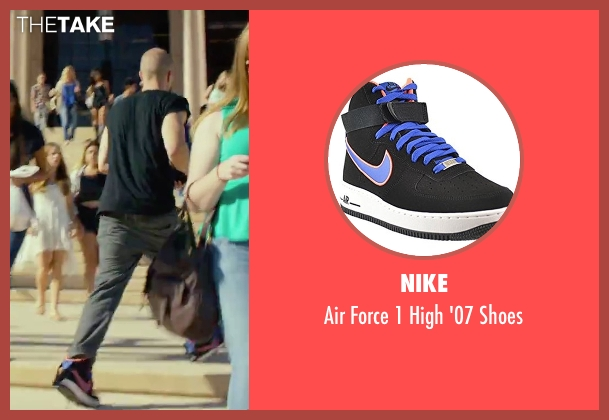 Nike black shoes from We Are Your Friends seen with Jonny Weston (Mason)