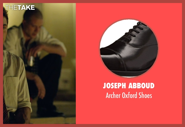 Joseph Abboud black shoes from We Are Your Friends seen with Jonny Weston (Mason)