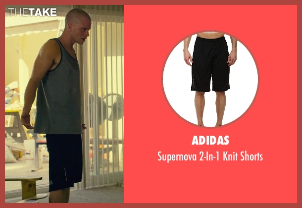Adidas black shorts from We Are Your Friends seen with Jonny Weston (Mason)