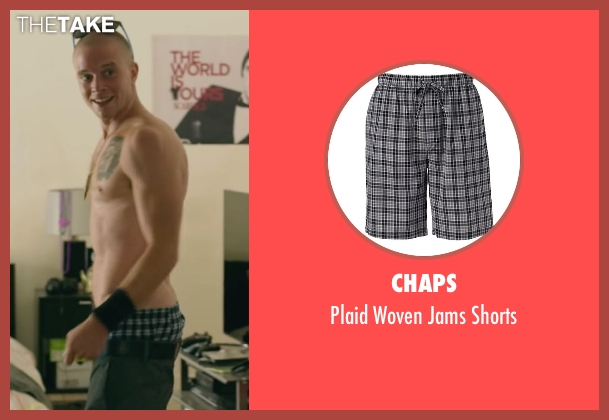 Chaps black shorts from We Are Your Friends seen with Jonny Weston (Mason)