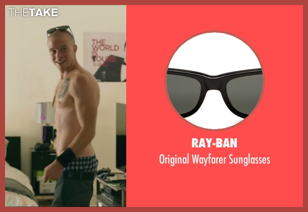 Ray-Ban black sunglasses from We Are Your Friends seen with Jonny Weston (Mason)