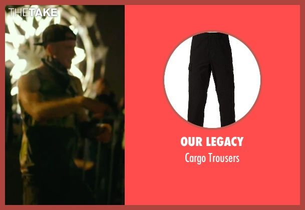Our Legacy black trousers from We Are Your Friends seen with Jonny Weston (Mason)