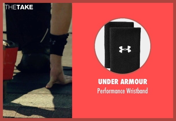 Under Armour black wristband from We Are Your Friends seen with Jonny Weston (Mason)