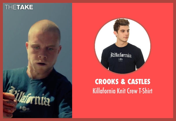 Crooks & Castles blue t-shirt from We Are Your Friends seen with Jonny Weston (Mason)