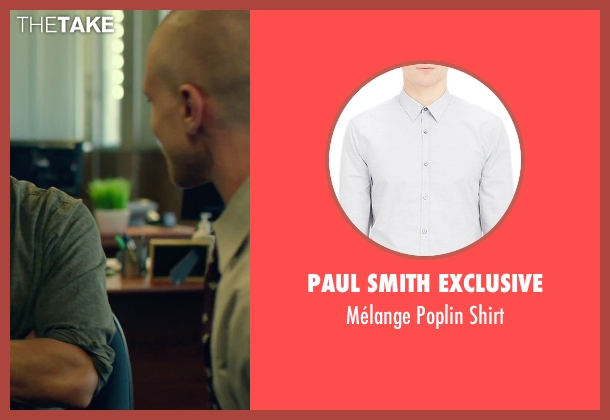 Paul Smith Exclusive gray shirt from We Are Your Friends seen with Jonny Weston (Mason)