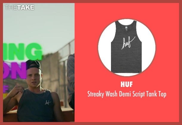 Huf gray top from We Are Your Friends seen with Jonny Weston (Mason)