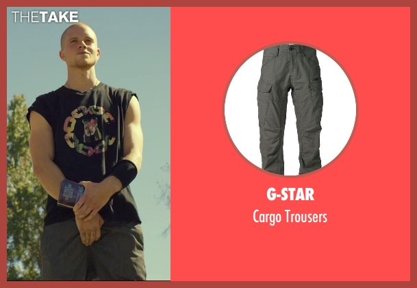 G-Star gray trousers from We Are Your Friends seen with Jonny Weston (Mason)