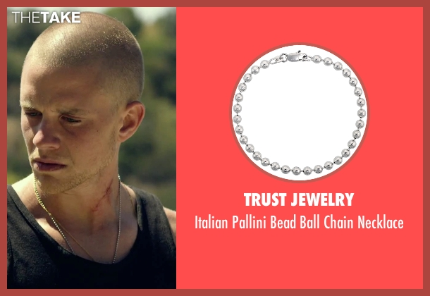 Trust Jewelry silver necklace from We Are Your Friends seen with Jonny Weston (Mason)
