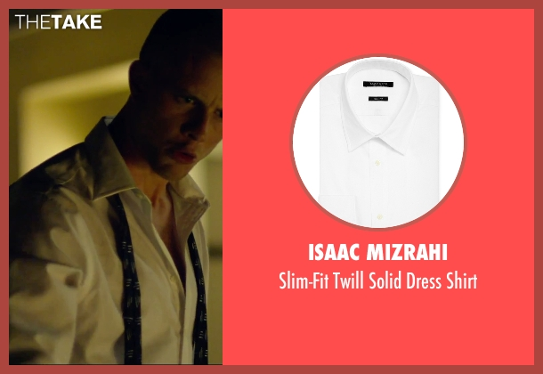 Isaac Mizrahi white shirt from We Are Your Friends seen with Jonny Weston (Mason)