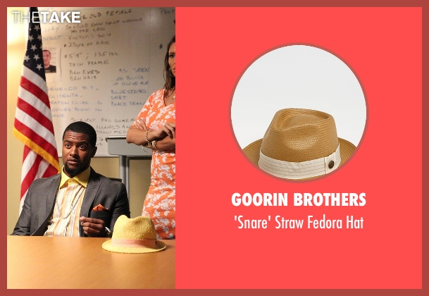 Goorin Brothers beige hat from Rosewood seen with Joo Joo (Kamal Angelo Bolden)