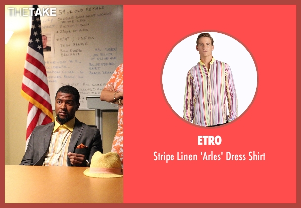 Etro yellow shirt from Rosewood seen with Joo Joo (Kamal Angelo Bolden)