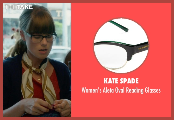 Kate Spade black glasses from What If seen with Jordan Hayes (Nicole)