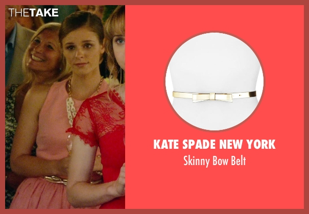 Kate Spade New York gold belt from What If seen with Jordan Hayes (Becky)