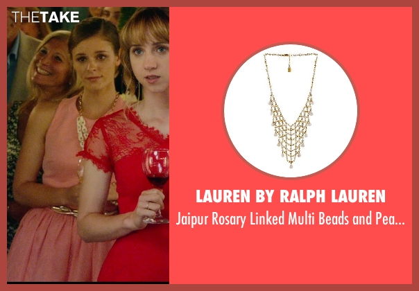 Lauren by Ralph Lauren gold necklace from What If seen with Jordan Hayes (Becky)