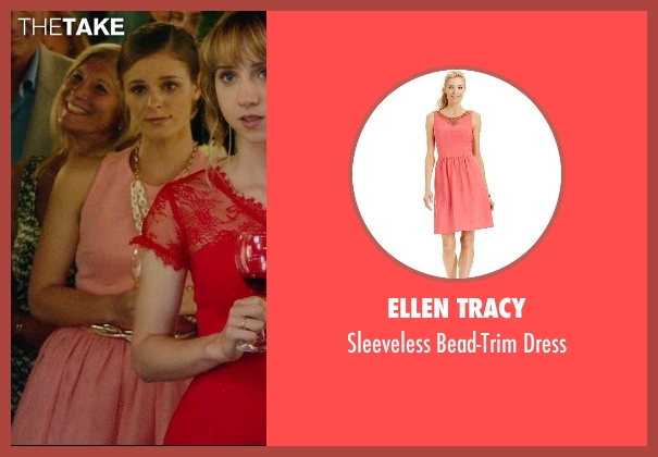 Ellen Tracy pink dress from What If seen with Jordan Hayes (Becky)