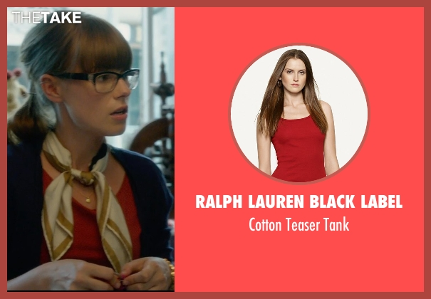 Ralph Lauren Black Label red tank from What If seen with Jordan Hayes (Becky)