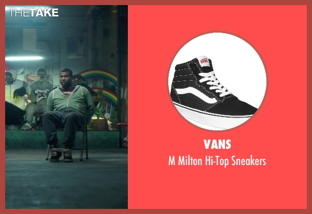 Vans black sneakers from Keanu seen with Jordan Peele (Rell Williams)