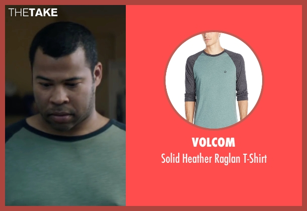 Volcom green t-shirt from Keanu seen with Jordan Peele (Rell Williams)