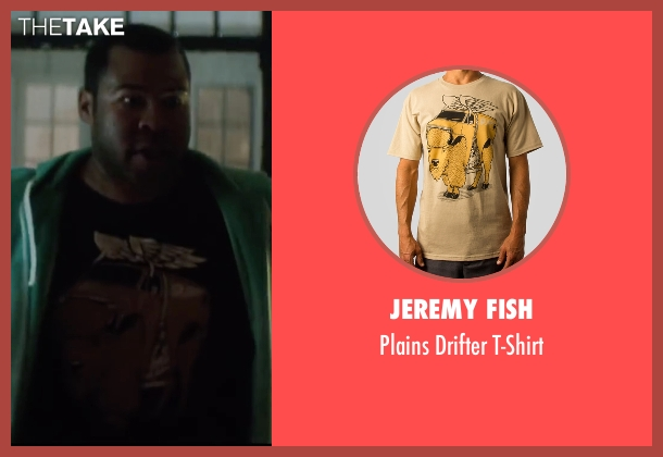 Jeremy Fish red t-shirt from Keanu seen with Jordan Peele (Rell Williams)