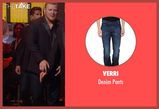 Verri blue pants from Pitch Perfect 2 seen with Jordan Rodgers (Football Player)