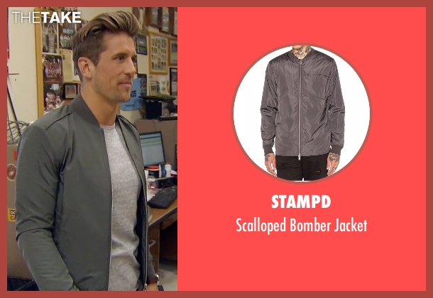 Stampd gray jacket from The Bachelorette seen with Jordan